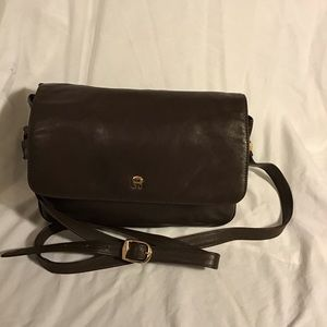 Etienne Aigner- Small Brown Leather Crossbody